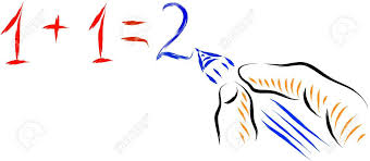 hand writing simple math equation stock vector 16850636