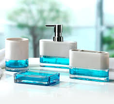 blue glass bathroom accessories. Wondrous Blue Glass Bathroom Accessories Float 4 Piece Accessory Set Mercury Bath S
