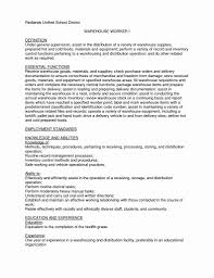 Resume Examples For Factory Workers Of Resumes Warehouse Worker