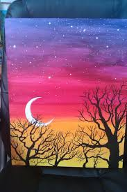 Easy Acrylic Painting Ideas Trees Pergola Kids