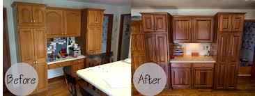 Finishing Kitchen Cabinets 3 Tips On How To Refinish The Kitchen Cabinets Ward Log Homes