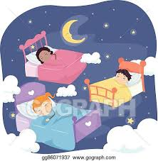 kids bed clipart. Plain Clipart Stickman Kids Bed Night Sky On Clipart