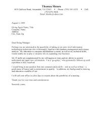 Examples Of Cover Letters For Students Cover Letter Examples For