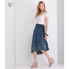 Simplicity Skirt Patterns Mesmerizing Simplicity 48 Women's Double Layer Wrap Skirt Sewing Pattern