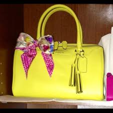 Coach Legacy Yellow Haley Satchel!