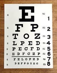 Eye Chart Poster Eye Chart Art Print Poster