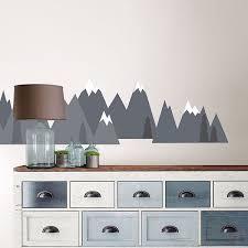 wpk2457 mountain range wall decal