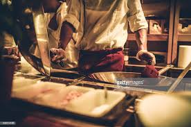 busy kitchen. Chef In A Busy Kitchen : Stock Photo O