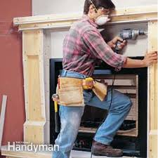 how to install a gas fireplace the family handyman wood frame mantel