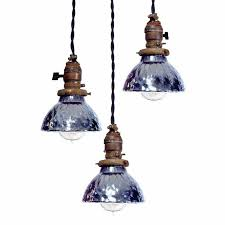 matching pendant lights and chandelier lovely mini blue mercury glass pendent lamps matching set of 3