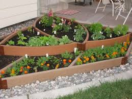 unique vegetable garden ideas for small garden spaces with wood raised bed and gravel ideas