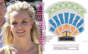 Britney Spears Planet Hollywood Seating Chart Accidentally