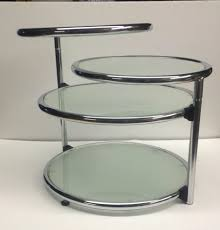 living room square glass and chrome coffee table furniture end tables circular glass side table