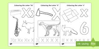 Searching for a coloring page? Letter X Coloring Pages Teacher Made