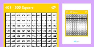 401 500 Square 401 500 Square Number Number Square