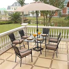 home trends patio furniture. hometrends braddock heights 7piece woven dining set home trends patio furniture m