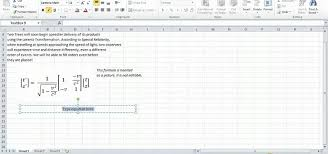 excel equations