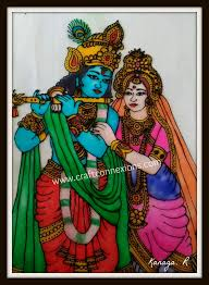 glass painting tutorial lord radha krishna glass painting