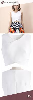 Chicwish Savvy Cross Wrapped Crop Top See Size Chart In Last