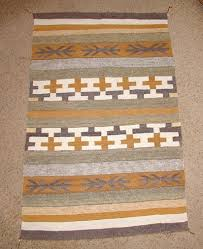 authentic vintage native american navajo hand woven cross pattern crystal rug