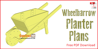 wheelbarrow planter plans drawings