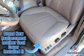 2000 2002 ford expedition ed bauer xlt leather seat cover driver bottom tan