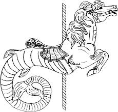 Small Picture 21 best Coloring Pages Advanced Carousel Horses images on