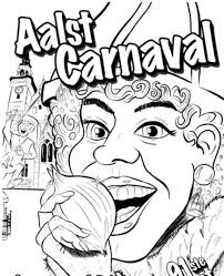 Kort Carnavalsnieuws Een Carnavaleske Kleurplaat Broodjes Voor