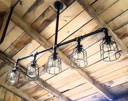 industrial lighting chandelier. Rustic Industrial Lighting Chandelier- LONG Modern Industrial- Farm House Chandelier L