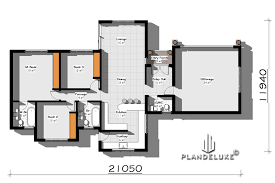 3 bedrooms single story house plans