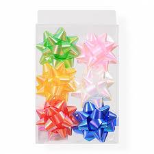 <b>Набор бантов</b> для украшения подарков <b>Звезда</b> 6шт d=7см 058C ...