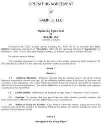 template for llc operating agreement sample llc agreement delli beriberi co