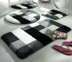 black and white bathroom rugs fancy design rug set stylish decoration bath sets striped damask mats