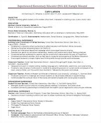 sample first year teacher resume experienced elementary teacher resume  sample first grade teacher resume .