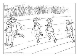 Small Picture Running Race Colouring Page