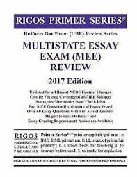 Bar Exam Essays Details About Rigos Primer Series Uniform Bar Exam Ube Review Multistate Essay Exam Mee