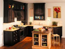 Square Kitchen Kitchen Popular Types Of Kitchen Cabinets Dark Brown Wooden