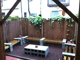creative uses for cinder blocks bench area