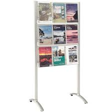 Free Standing Literature Display Unique Crest Freestanding Leaflet Dispenser The Sleek And Elegant