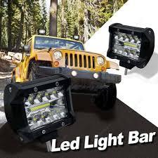 Off Road Flood Lights 2pcs 4 Inch 120w Led Work Light Bar Waterproof Offroad Spot Flood Lamp