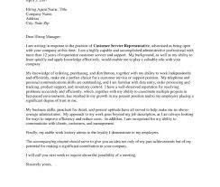 Cover Letter Customer Service Cover Letter Resume Objective For