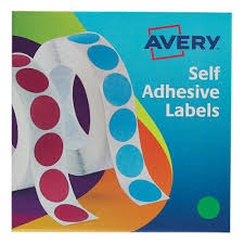 Avery Labels In Dispenser On Roll Round Diam 19mm Green Ref 24 507 1120 Labels