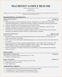 Machinist Resume Template Resume for Machinist Luxury Cnc Machinist Resume Template 96
