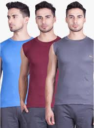 Lux Cozi Pack Of 3 Multicoloured Round Neck Vest