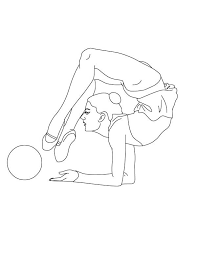 Small Picture Ball Individual All Around Rhythmic Gymnastic Coloring Page