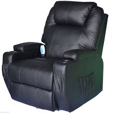 massage chair canada. homcom luxury leather massage sofa adjustable recliner chair armchair black canada
