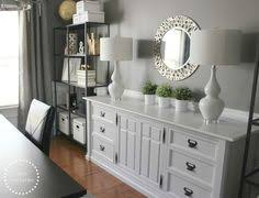 dining room and office. duo ventures office storage thrift store dresser makeover like the styling of it for dining room and