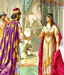 bible queen esther. Esther And King Xerxes Or Assurus Ancient Persian Old Testament Bible In Queen