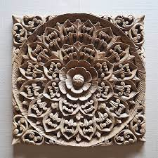 balinese hand carved wood wall art