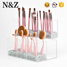 nz m103 clear makeup brush display stand cosmetic acrylic brush holder